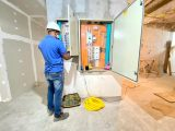 Centro de Bioimagem: Obras avançam e equipes executam instalações elétricas, divisórias de gesso e outros